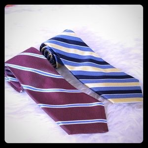 🌿2 Cremieux Collection handmade 100% silk ties🌿